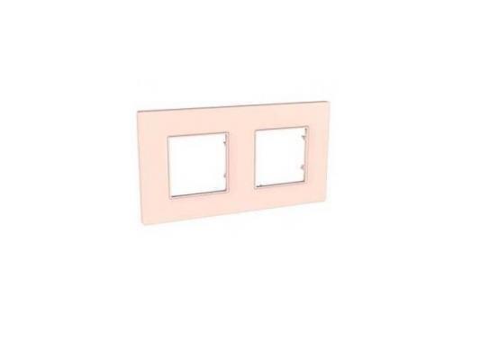 Рамка 2 пост розовый жемчуг Schneider Electric Unica Quadro MGU4.704.37