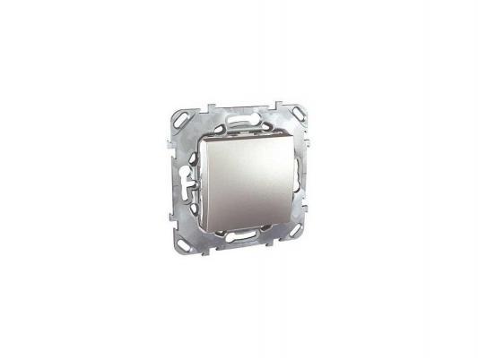 Переключатель Schneider Electric 1-клавишный алюминий MGU5.203.30ZD  переключатель schneider electric 1 клавишный проходной белый s52r205