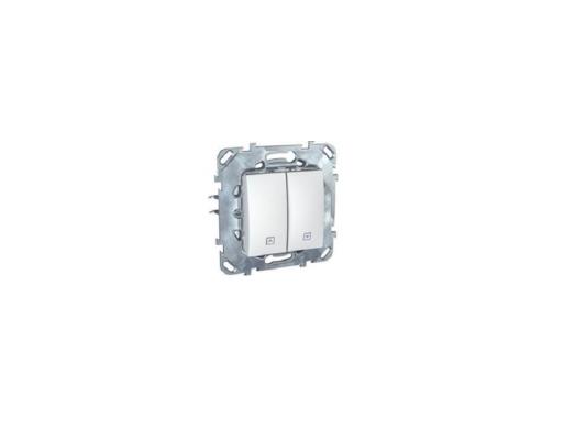 Выключатель Schneider Electric 2-клавишный для жалюзи белый MGU5.208.18ZD