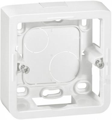 Коробка накладная Legrand Mosaic 2 модуля глубина 30мм белый 80280