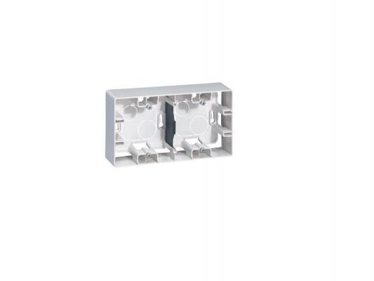 цены Коробка накладная Legrand ETIKA 2 поста белый 672530
