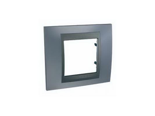 Рамка 1 пост серый/графит Schneider Electric Unica Top MGU66.002.297  цены