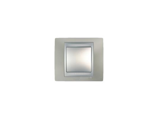 Рамка 1 пост никель/алюминий Schneider Electric Unica Top MGU66.002.039