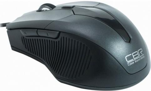 Мышь проводная CBR CM-301 серый USB мышь cbr cm 301 grey