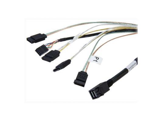 Кабель интерфейсный SAS LSI CBL-SFF8643-SATASB-10M SFF8643- 4xSATA+SB 100см цена и фото