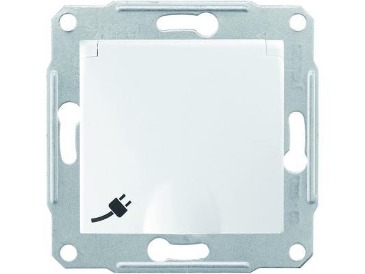 Розетка Schneider Electric IP44 с защитными шторками с крышкой белый SDN3100321