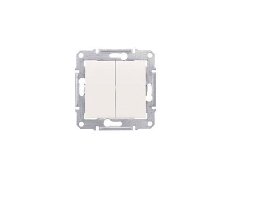 Выключатель Schneider Electric 2-клавишный бежевый SDN0300147