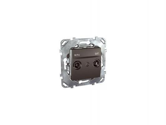 Розетка R-TV/SAT Schneider Electric оконечная графит MGU5.455.12ZD