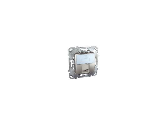 Розетка 1хRJ45 кат. 6 Schneider Electric алюминий MGU5.425.30ZD