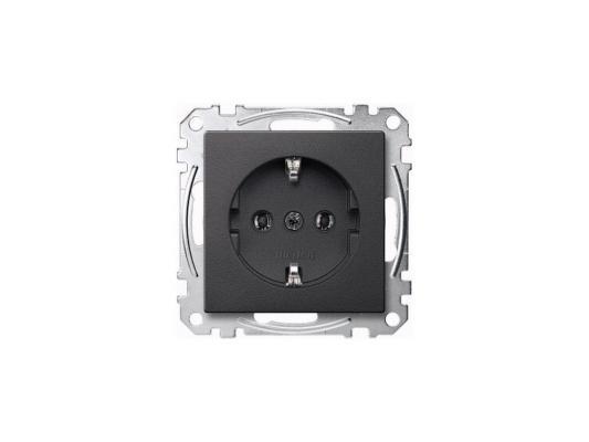 Розетка Schneider Electric электрическая антрацит MTN2301-0414
