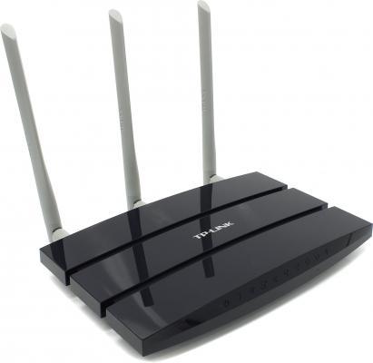 Маршрутизатор TP-LINK TL-WR1045ND 802.11n 450Mbps 2.4 ГГц 4xLAN USB USB синий принт сервер tp link tl ps110p внешний