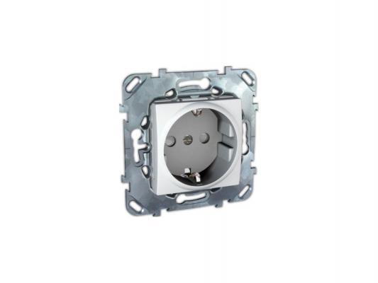 Розетка Schneider Electric электрическая с защитными шторками белый MGU5.033.18ZD