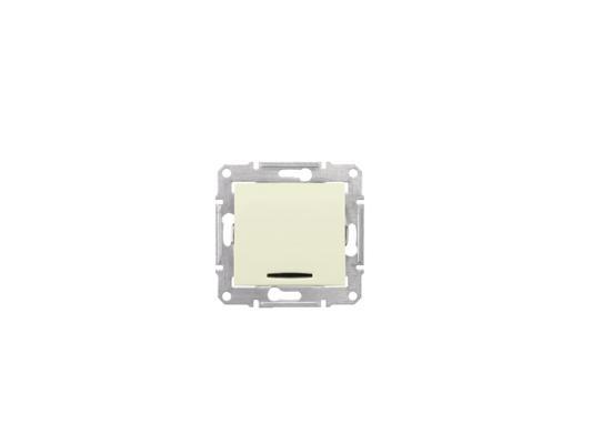Выключатель Schneider Electric Sedna 1-клавишный с подсветкой бежевый SDN1400147