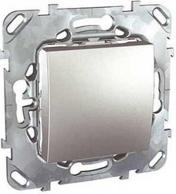 Выключатель Schneider Electric Unica Top 1-клавишный алюминий MGU5.201.30ZD  выключатель schneider electric 1 клавишный алюминий mgu5 206 30zd