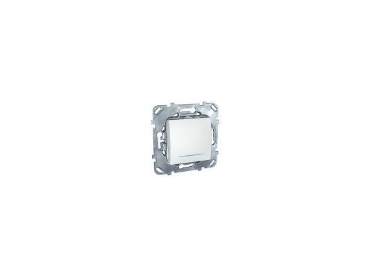 Переключатель Schneider Electric Unica 1-клавишный с подсветкой белый MGU5.203.18NZD панель лицевая schneider electric actassi 1 модуль белый 24 шт vdi88240