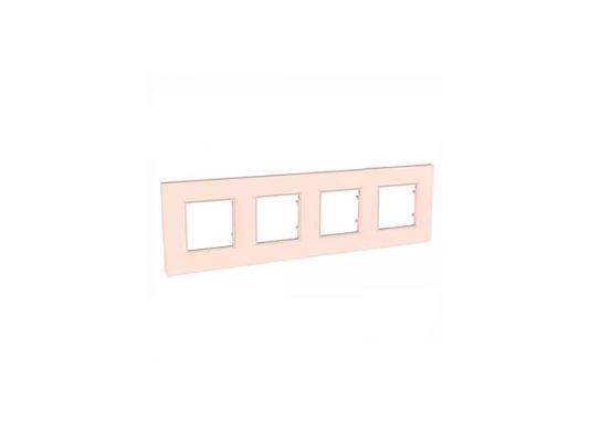 Рамка 4 пост розовый жемчуг Schneider Electric Unica Quadro MGU4.708.37
