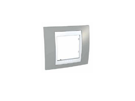 Рамка 1 пост хамелеон серый/белый Schneider Electric Unica MGU6.002.865 панель лицевая schneider electric actassi 1 модуль белый 24 шт vdi88240