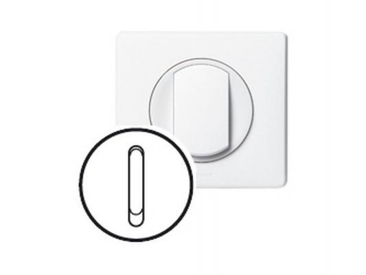 Лицевая панель Legrand Celiane для выключателя бесшумного белый 68017