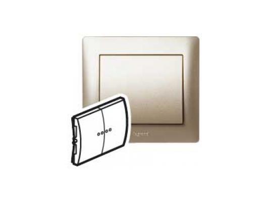 Лицевая панель Legrand Galea Life для двойного выключателя титан 771412