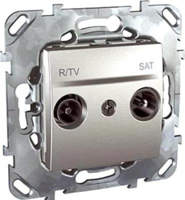 Розетка R/TV/SAT Schneider Electric алюминий MGU5.454.30ZD  tv розетка schneider electric алюминий mgu5 462 30zd