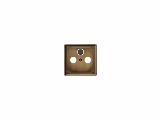 Накладка для розетки TV/FM античная латунь Schneider Electric MTN294143