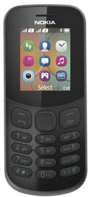 Мобильный телефон NOKIA 130 Dual Sim 2017 черный (A00028615) мобильный телефон nokia 3310 dual sim 2017 yellow