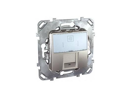 Розетка компьютерная Schneider Electric Unica Top MGU5.421.30ZD RJ45 кат. 5e алюминий