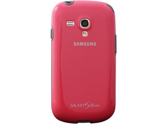 Чехол Samsung EFC-1M7BPEGSTD для Samsung Galaxy S3 mini розовый браун роуз дизайн кожа pu откидная крышка бумажника карты держатель чехол для samsung s3