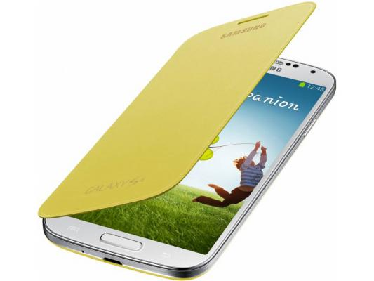 Чехол-книжка Samsung EF-FI950BYEGRU для Samsung Galaxy S4 желтый printio чехол для samsung galaxy s4