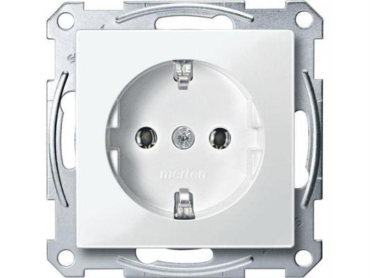 Розетка Schneider Electric с заземлением без шторок белый MTN2301-0319 розетка abb bjb basic 55 шале 2 разъема с заземлением моноблок цвет белый