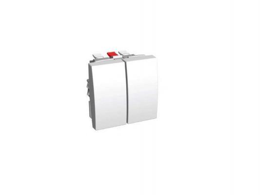 Переключатель Schneider Electric двухклавишный 16А ALB45056
