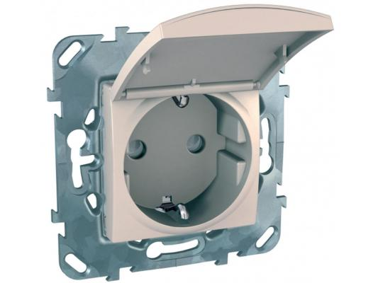 Розетка Schneider Electric со шторками MGU5.037.25TAZD