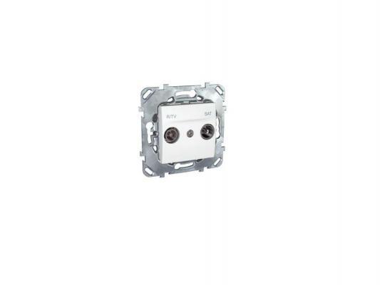 Розетка R/TV/SAT Schneider Electric проходная белый MGU5.456.18ZD
