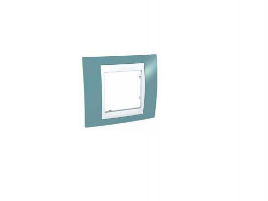 Рамка Schneider Electric 1 пост синий/белый MGU6.002.873