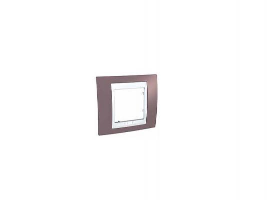 Рамка Schneider Electric 1 пост лиловый/белый MGU6.002.876
