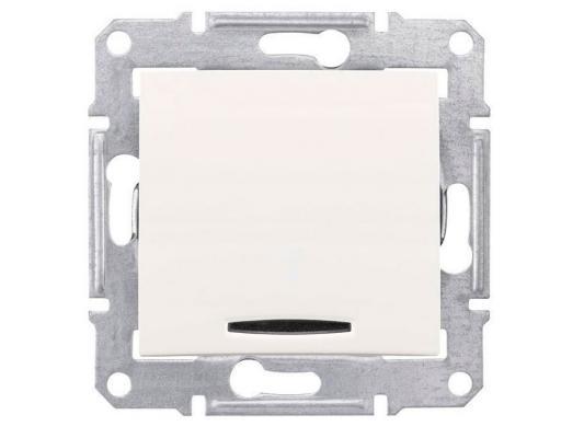 Выключатель Schneider Electric 1-клавишный белый SDN1400121  выключатель schneider electric 1 клавишный алюминий mgu5 206 30zd