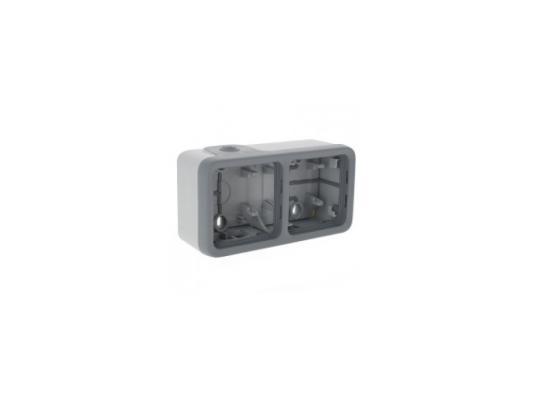 Монтажная коробка Legrand Plexo 2 поста серый 69672