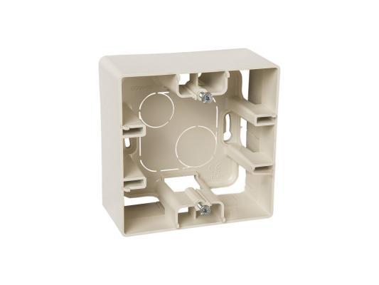 Монтажная коробка Legrand ETIKA1 пост слоновая кость 672520  монтажная коробка legrand plexo 1 пост белый 69689