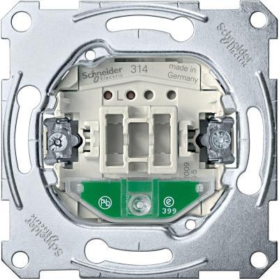 Выключатель Schneider Electric 1-клавишный с подсветкой MTN3136-0000 schneider se sedna титан выключатель 1 клавишный с подсветкой 10 а сх 1 sdn1400168