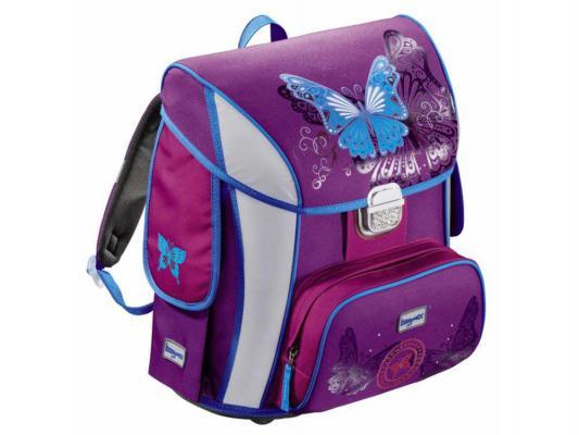 Ранец ортопедический Step by Step BaggyMax Simy Butterfly 20 л фиолетовый рисунок 129296