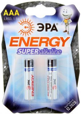 Батарейки ЭРА LR03-2BL AAA 2 шт