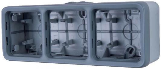 Монтажная коробка Legrand Plexo 3 поста серый 69680