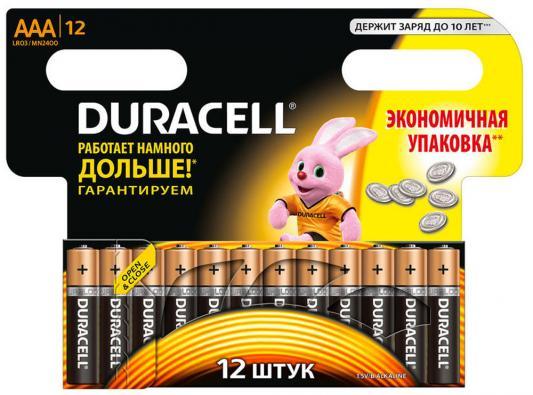Батарейки LR03/AAA алкалиновые Duracell Basic 12шт