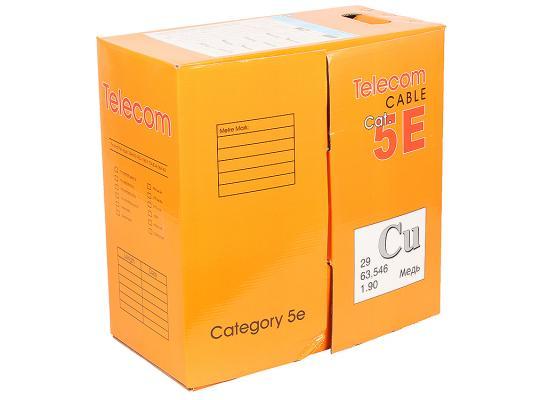 все цены на Кабель Telecom FTP 4 пары кат 5e 305м FTP4-TC1000C5EN-CU-OS медь онлайн