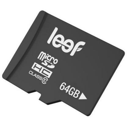 Карта памяти Micro SDXC 64Gb Class 10 Leef LMSA0KK064R5 + адаптер leef microsd 64gb class 10