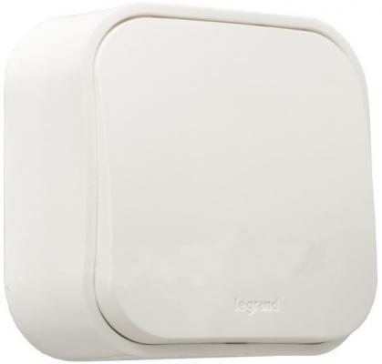 Выключатель Legrand Quteo 6А 1 клавиша белый 782205 выключатель двухклавишный наружный бежевый 10а quteo