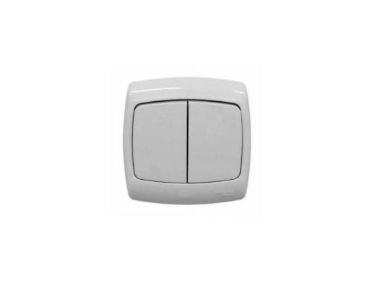 Выключатель Schneider Electric 2-клавишный белый РОНДО IP44 VA56-225B-BI