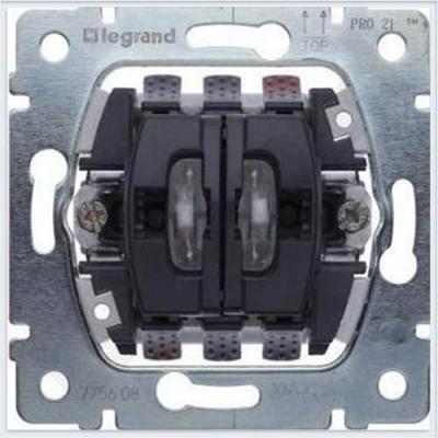 Переключатель Legrand Galea Life на 2 направления с подсветкой 775608 legrand legrand galea life алюминий клавиша 1 ая c точечной подсветкой 771334