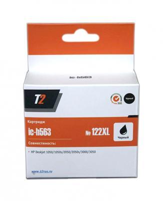 Картридж T2 CH563HE №122XL для HP Deskjet 1050 1050s 2050 2050s 3000 3050 черный 480стр IC-h563 for hp 122 black ink cartridge for hp 122 xl deskjet 1000 1050 2000 2050 3000 3050a 3052a printer