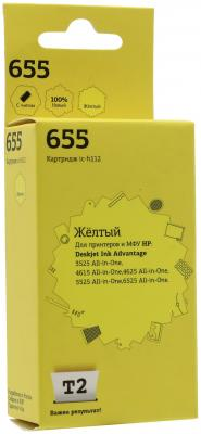 Картридж T2 № 655 для HP DeskJet IA 3525/4615/5525/6525 желтый 600стр IC-H112 for hp 655 refillable ink cartridge for hp deskjet 3525 4615 4625 5525 6520 6525 for hp dey ink bottle 4 color universal 400ml